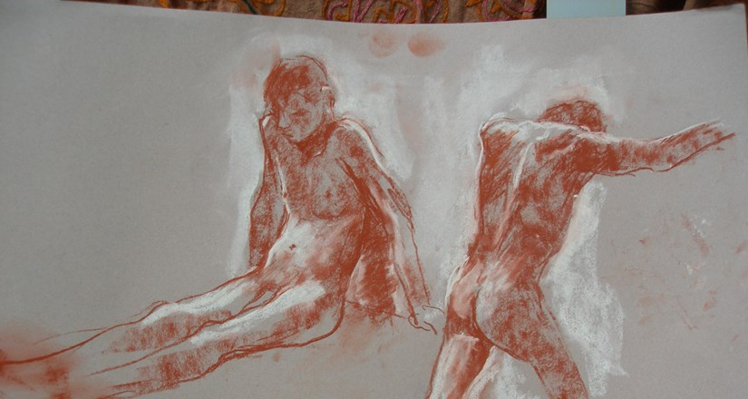 Life Drawing with Joanna Crawford Summer 2017 2nd Half Term