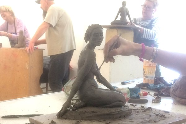 Wednesday Sculpture class with Jonty Meyer Summer 2nd Term 2018