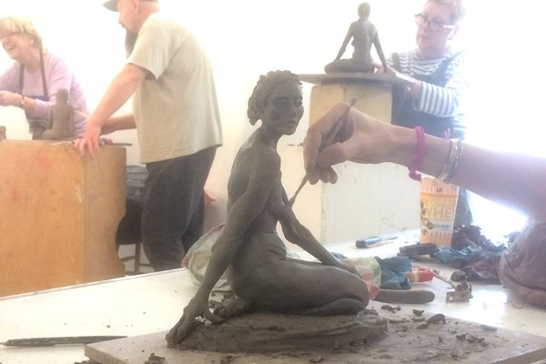 Friday Sculpture class Summer 2nd Term 2018